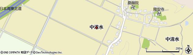 山形県鶴岡市中清水周辺の地図