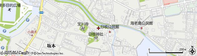 山形県鶴岡市日枝周辺の地図