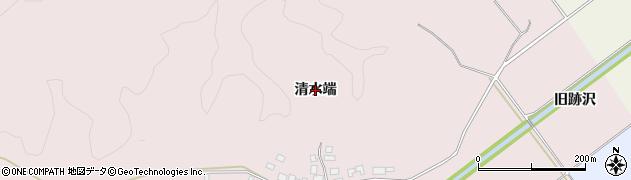山形県鶴岡市中沢(清水端)周辺の地図