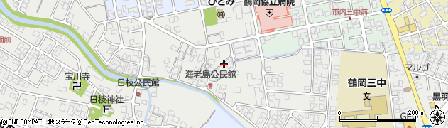 山形県鶴岡市日枝(海老島)周辺の地図
