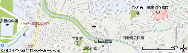 山形県鶴岡市日枝(大塚)周辺の地図