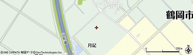 山形県鶴岡市寺田(月記)周辺の地図