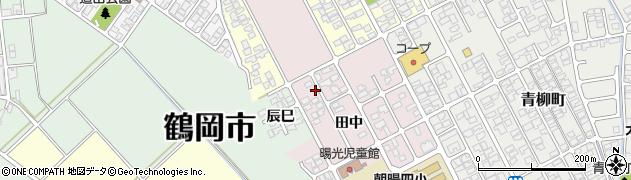 山形県鶴岡市柳田周辺の地図