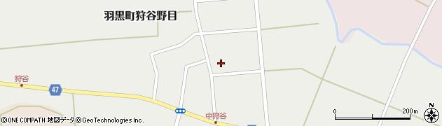 山形県鶴岡市羽黒町狩谷野目(村東)周辺の地図