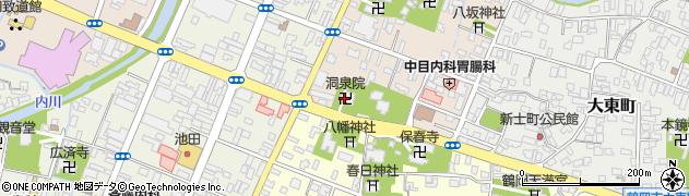 洞泉院周辺の地図