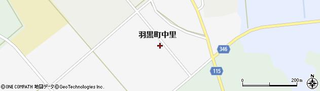 山形県鶴岡市羽黒町中里周辺の地図