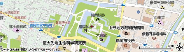 荘内神社周辺の地図
