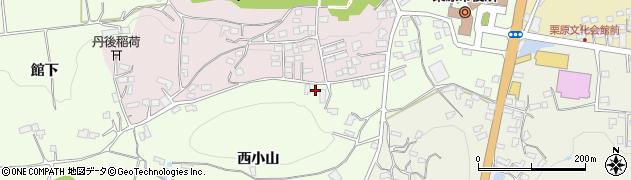 宮城県栗原市築館西小山周辺の地図
