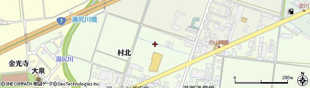 山形県鶴岡市白山(村北)周辺の地図