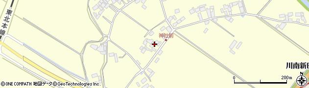 宮城県栗原市若柳川南南谷地周辺の地図