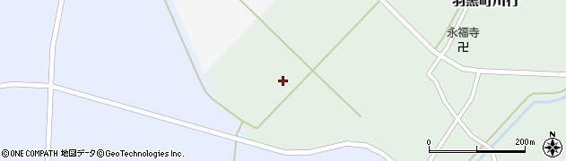 山形県鶴岡市羽黒町川行(谷地)周辺の地図