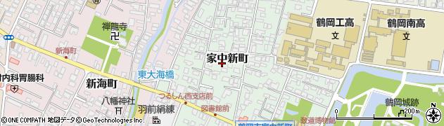 山形県鶴岡市家中新町周辺の地図
