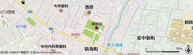 禅竜寺周辺の地図