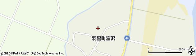 山形県鶴岡市羽黒町富沢(下川原)周辺の地図