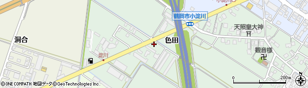 山形県鶴岡市小淀川(色田)周辺の地図
