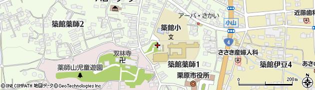 築館八幡神社周辺の地図
