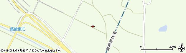 宮城県栗原市築館萩沢北小沼周辺の地図