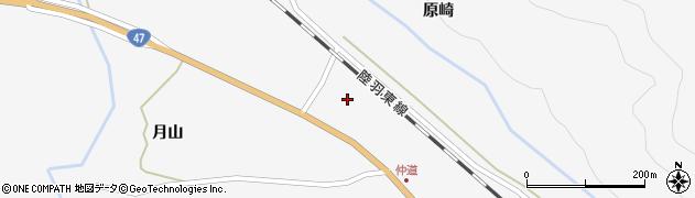 宮城県大崎市鳴子温泉(中道)周辺の地図