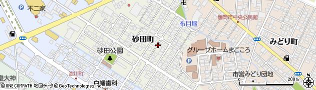 山形県鶴岡市砂田町周辺の地図