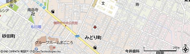 山形県鶴岡市みどり町周辺の地図