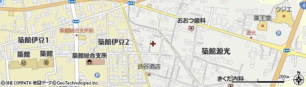 宮城県栗原市築館源光周辺の地図