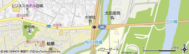 鶴岡市大宝寺周辺の地図