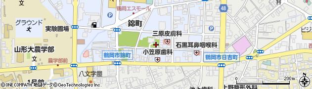 鳥明神周辺の地図