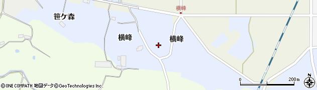 宮城県栗原市志波姫八樟横峰周辺の地図