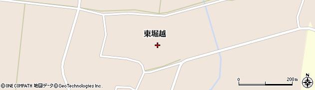 山形県鶴岡市東堀越(人足田)周辺の地図