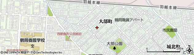 山形県鶴岡市大部町周辺の地図