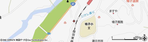 宮城県大崎市鳴子温泉(河原湯)周辺の地図
