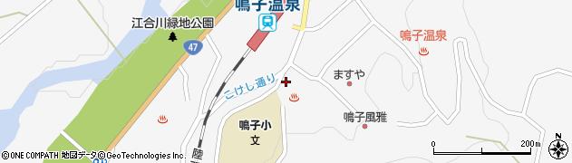 宮城県大崎市鳴子温泉(湯元)周辺の地図