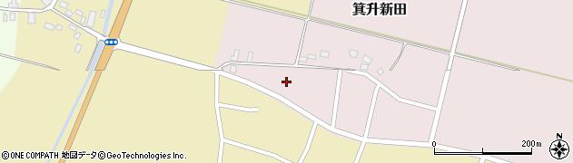 山形県鶴岡市箕升新田(西新田)周辺の地図