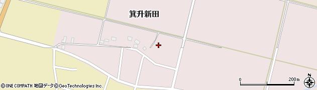 山形県鶴岡市箕升新田(中道)周辺の地図