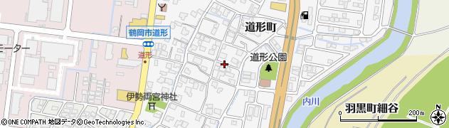 山形県鶴岡市道形町周辺の地図