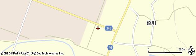 山形県鶴岡市添川(八幡西)周辺の地図