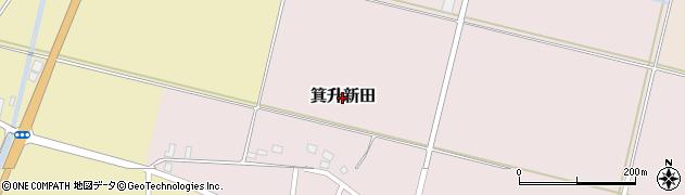 山形県鶴岡市箕升新田周辺の地図