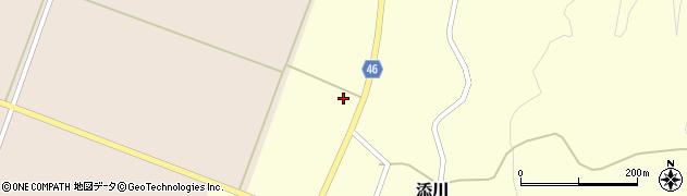 山形県鶴岡市添川(新田)周辺の地図