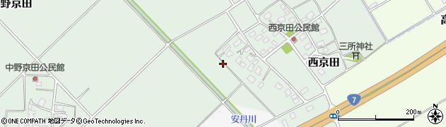 山形県鶴岡市西京田周辺の地図