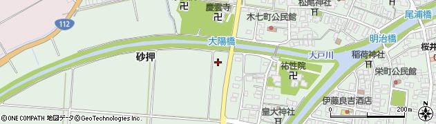 山形県鶴岡市大山(転目木)周辺の地図