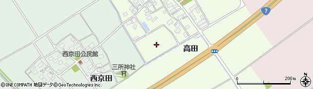 山形県鶴岡市高田(上村)周辺の地図