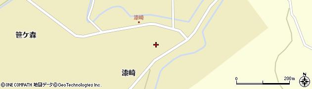 宮城県栗原市志波姫南郷漆崎周辺の地図