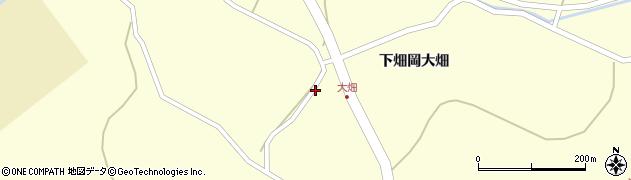 宮城県栗原市若柳下畑岡大畑周辺の地図