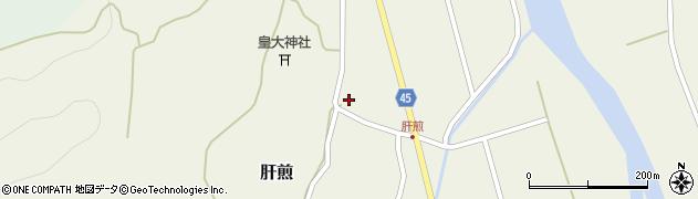 山形県東田川郡庄内町肝煎宮ノ前8周辺の地図