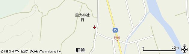 山形県東田川郡庄内町肝煎宮ノ前7周辺の地図
