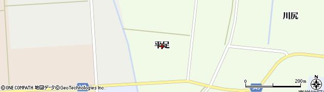 山形県鶴岡市平足周辺の地図