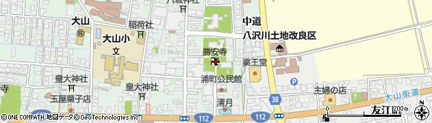 勝安寺周辺の地図