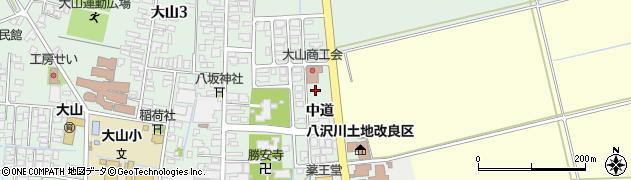 山形県鶴岡市大山(中道)周辺の地図