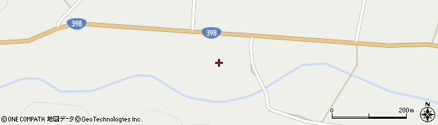 宮城県栗原市一迫宇南田周辺の地図