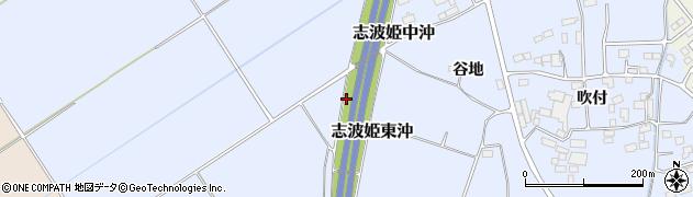 宮城県栗原市志波姫東沖周辺の地図